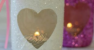 DIY Mason Jar Heart Votives