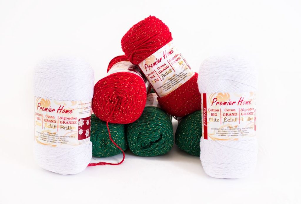 Crochet Poinsettia Tree Skirt + Premier Yarns Giveaway