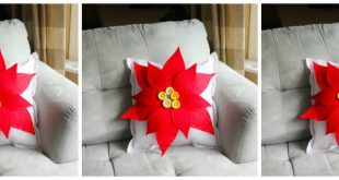 Poinsettia Pillow Tutorial + Fairfield Quilting Giveaway
