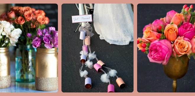 Fun on the Run: 20 ideas para bodas DIY en una hora o menos