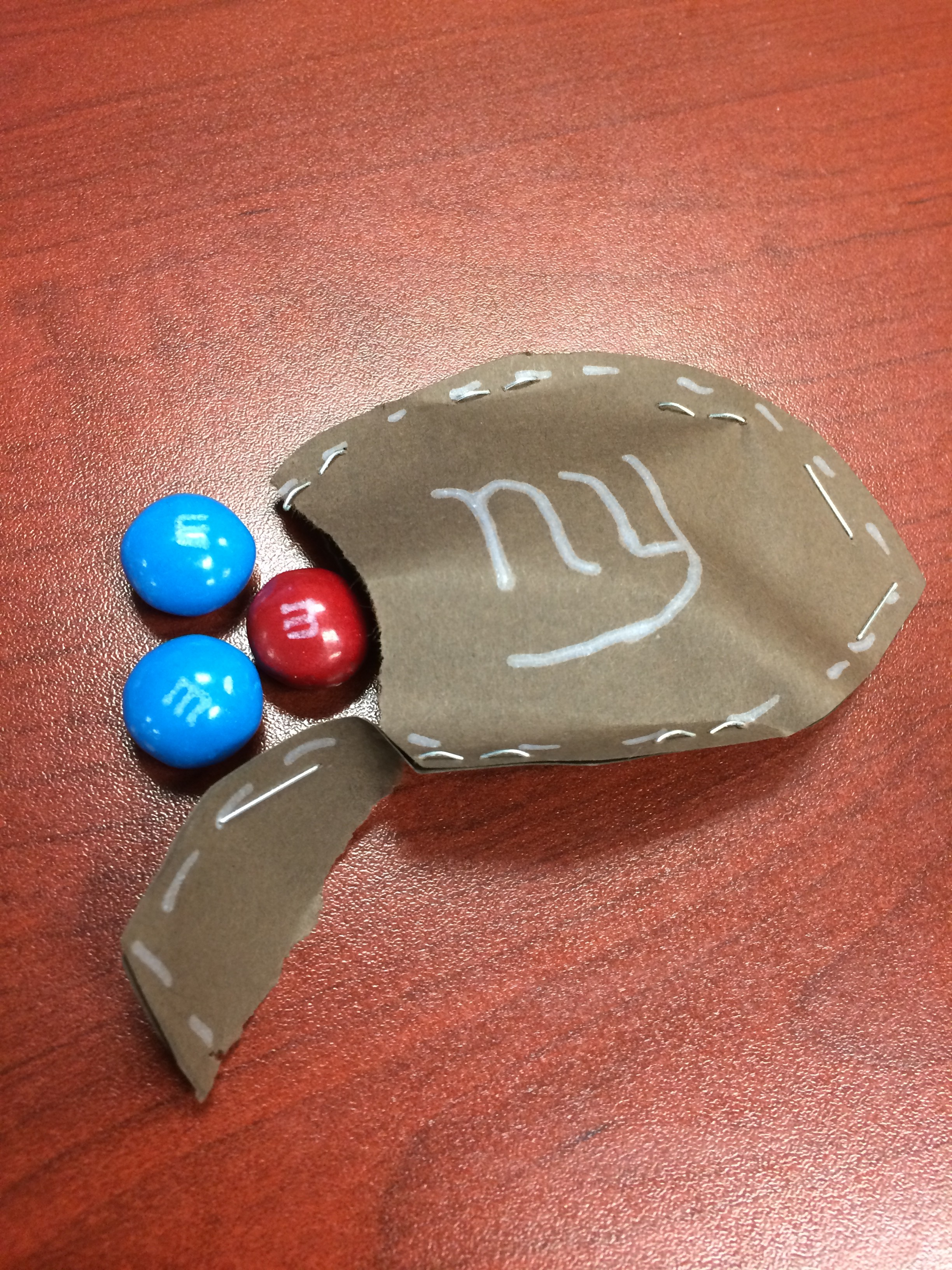 Candy Filled Football Craft