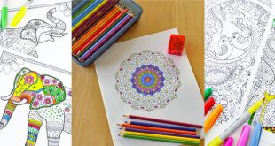Trendy Paper Crafts: Libros para colorear para adultos y sorteos