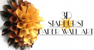 Easy 3D Starburst Wall Art