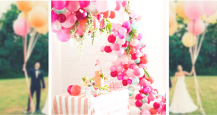 Tendencias: Ideas de decoración de globos de boda